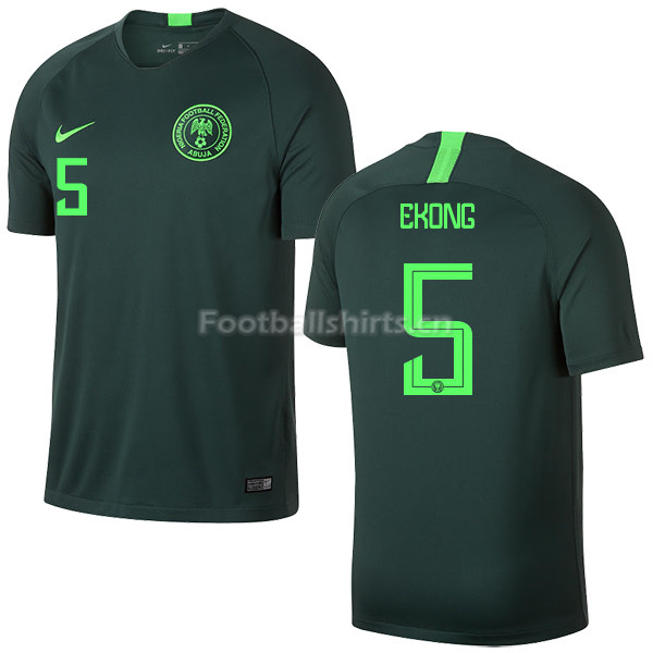 Nigeria Fifa World Cup 2018 Away William Troost-Ekong 5 Soccer J