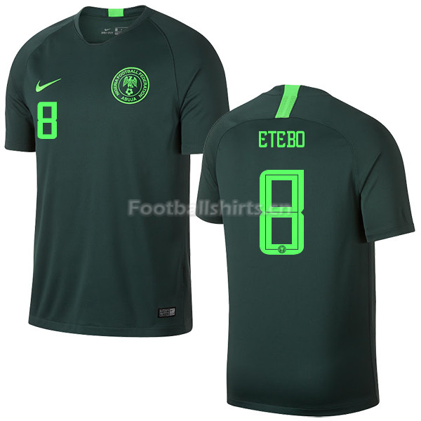Nigeria Fifa World Cup 2018 Away Oghenekaro Etebo 8 Soccer Jerse