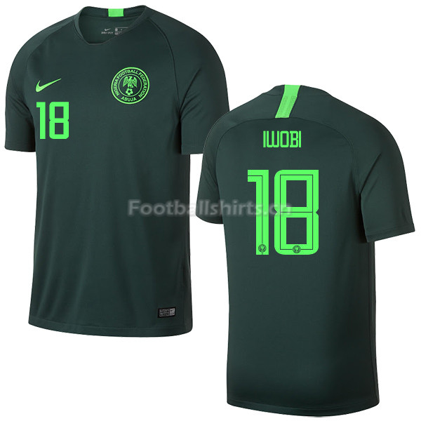 Nigeria Fifa World Cup 2018 Away Alex Iwobi 18 Soccer Jersey