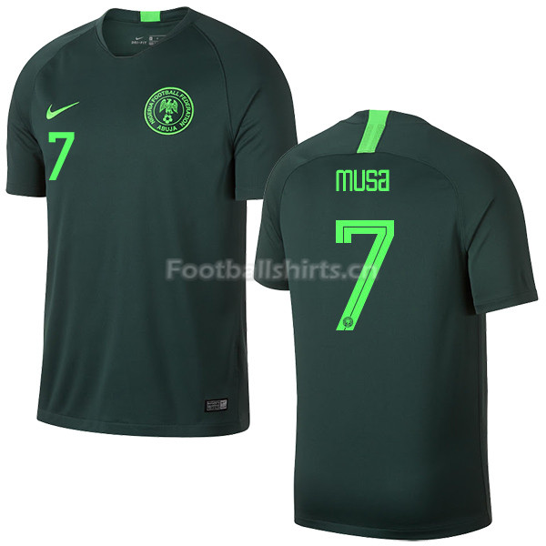 Nigeria Fifa World Cup 2018 Away Ahmed Musa 7 Soccer Jersey