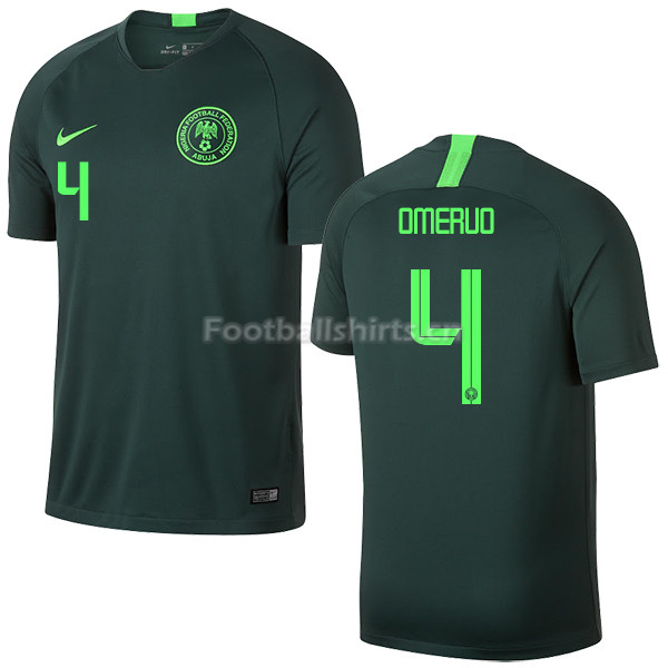 Nigeria Fifa World Cup 2018 Away Kenneth Omeruo 4 Soccer Jersey