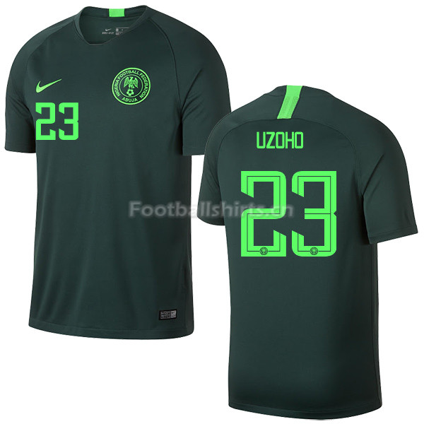 Nigeria Fifa World Cup 2018 Away Shirt Uzoho 23 Soccer Jersey
