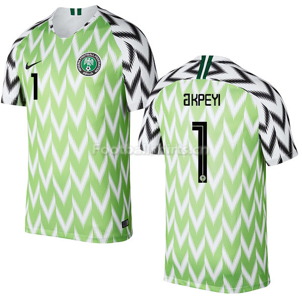 Nigeria Fifa World Cup 2018 Home Daniel Akpeyi 1 Soccer Jersey