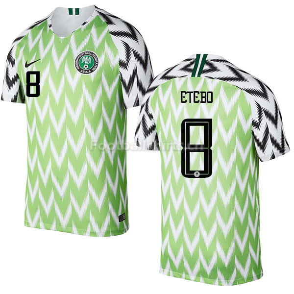 Nigeria Fifa World Cup 2018 Home Oghenekaro Etebo 8 Soccer Jerse