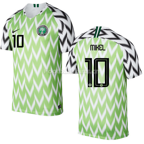 Nigeria Fifa World Cup 2018 Home Obi Mikel 10 Soccer Jersey