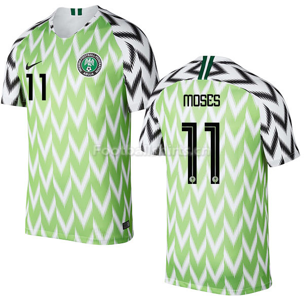 Nigeria Fifa World Cup 2018 Home Victor Moses 11 Soccer Jersey