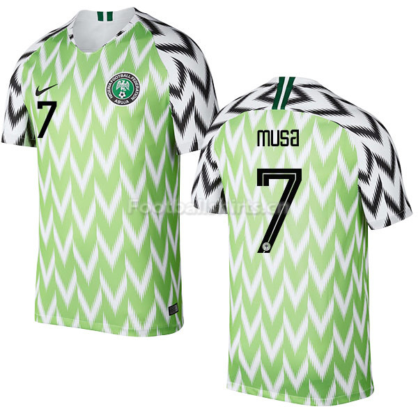 Nigeria Fifa World Cup 2018 Home Ahmed Musa 7 Soccer Jersey