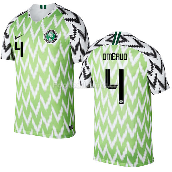 Nigeria Fifa World Cup 2018 Home Kenneth Omeruo 4 Soccer Jersey