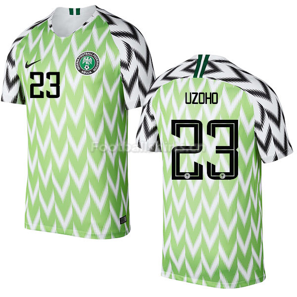 Nigeria Fifa World Cup 2018 Home Uzoho 23 Soccer Jersey
