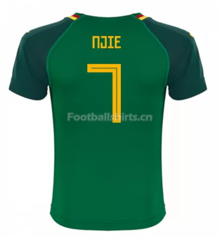 Cameroon 2018 World Cup Home Njie Soccer Jersey