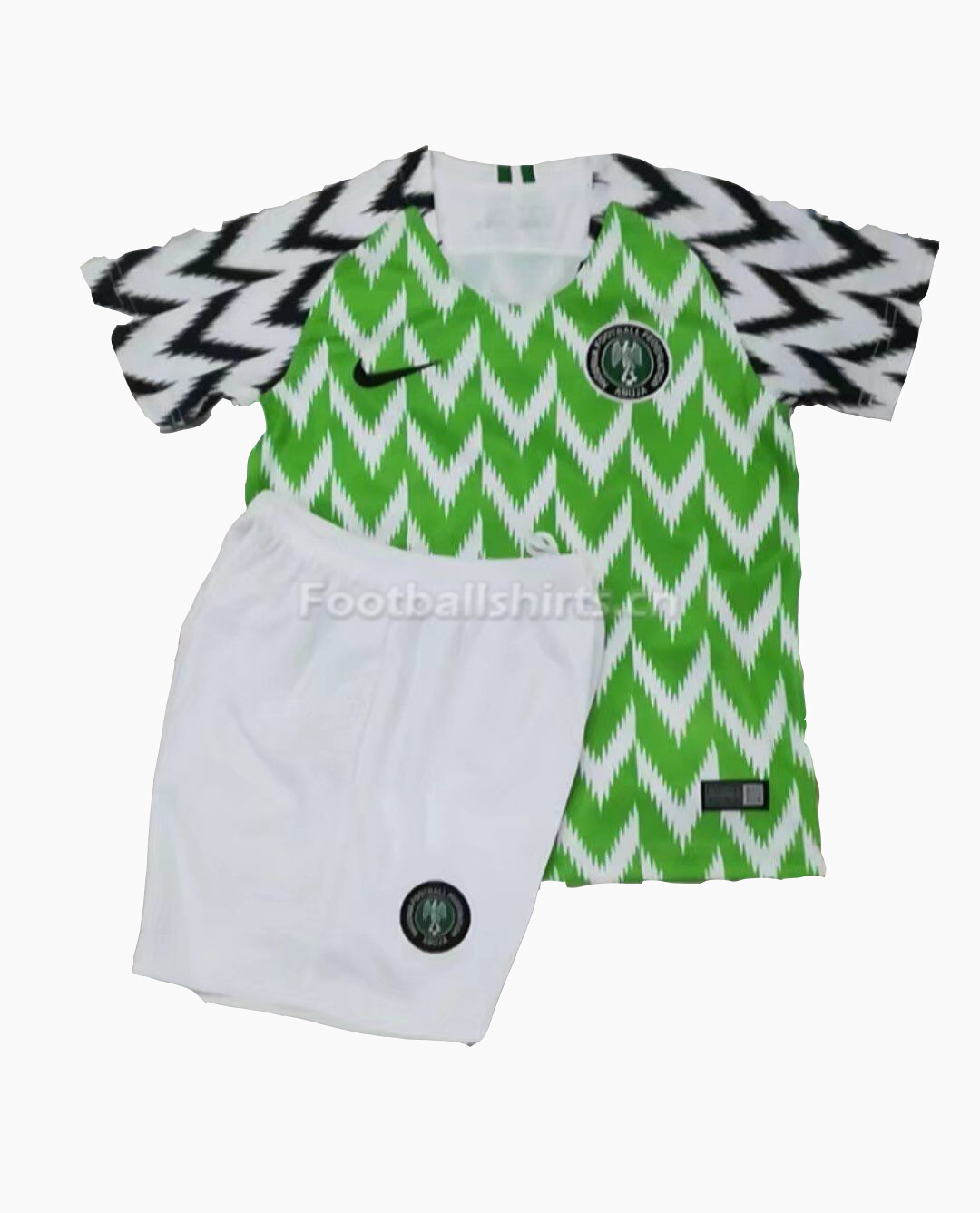 Kids Nigeria 2018 FIFA World Cup Home Soccer Kit Shirt + Shorts