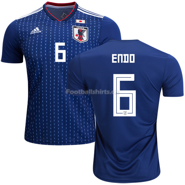 Japan 2018 World Cup WATARU ENDO 6 Home Soccer Jersey