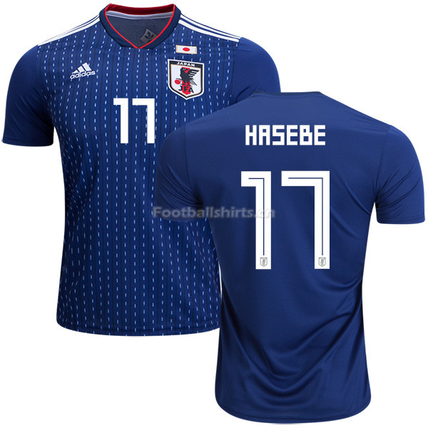 Japan 2018 World Cup MAKOTO HASEBE 17 Home Soccer Jersey