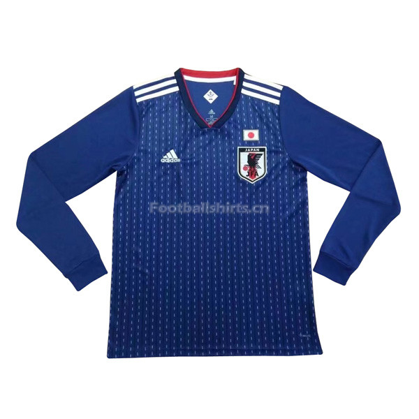 Japan 2018 World Cup Home Long Sleeve Soccer Jersey