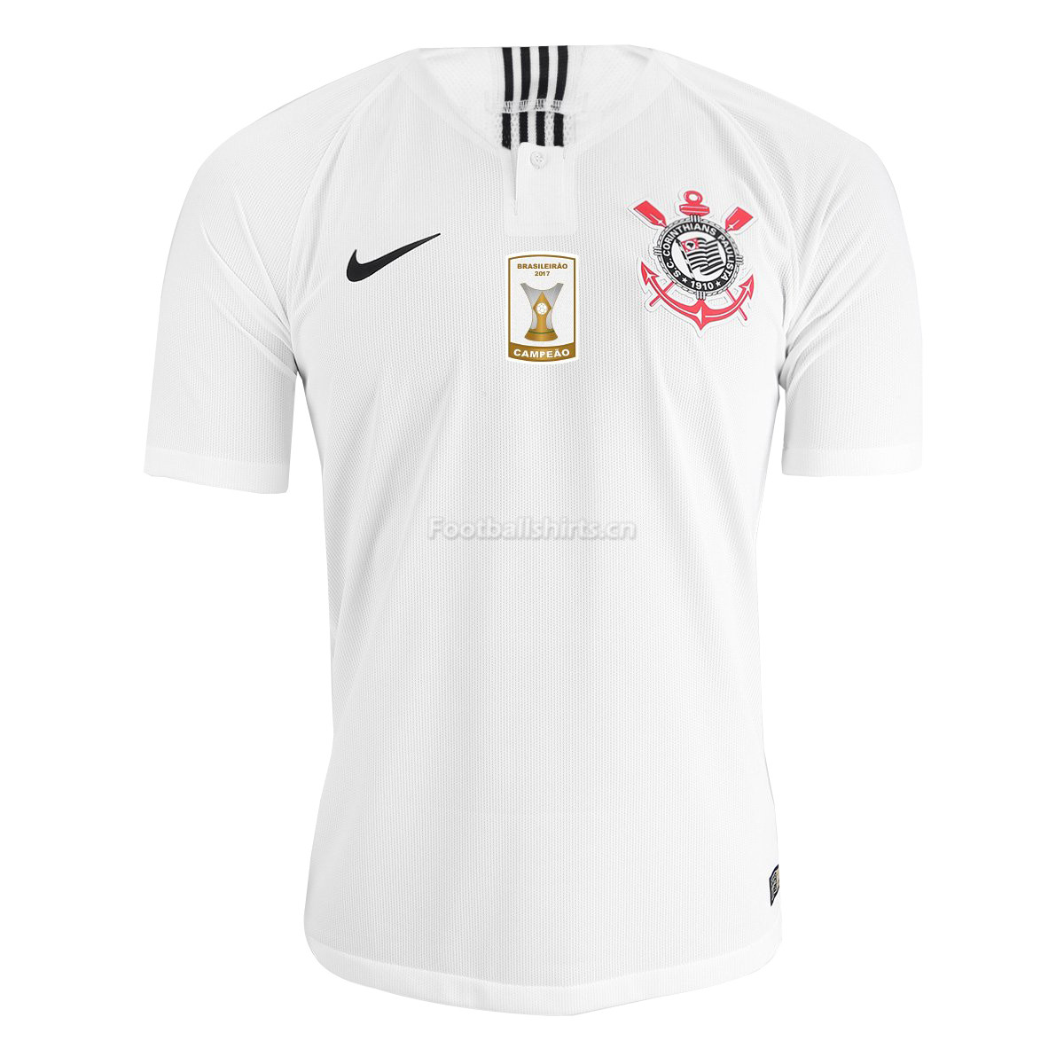 Match Version SC Corinthians Home White Soccer Jersey 2018/19