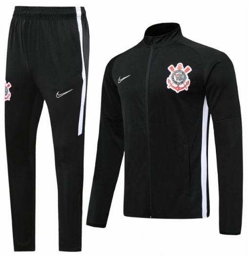 Corinthians Paulista Training Jacket Suits Black 2019/20
