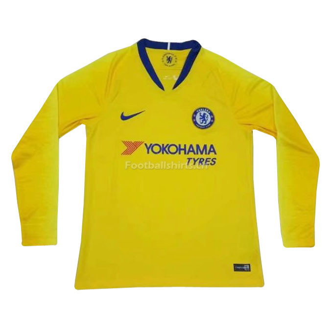 Chelsea Away Long Sleeve Soccer Jersey 2018/19