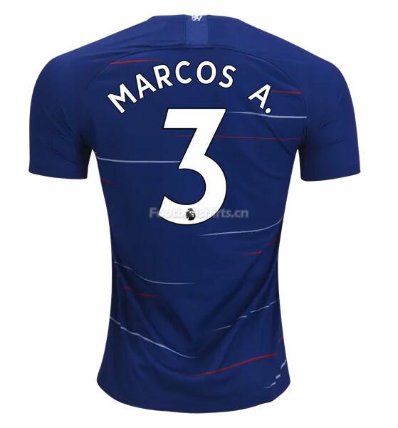 Chesea Home Marcos Alonso Soccer Jersey 2018/19