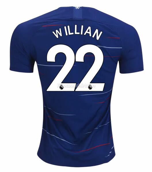 Chesea Home Willian Soccer Jersey 2018/19