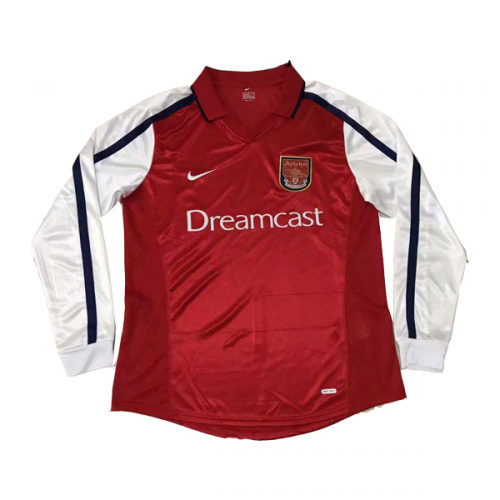 Retro Arsenal Home Soccer Jersey Long Sleeve 2000