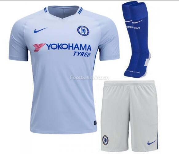 Chelsea Away Soccer Jersey Kits (Shirt+Shorts+Socks) 2017/18