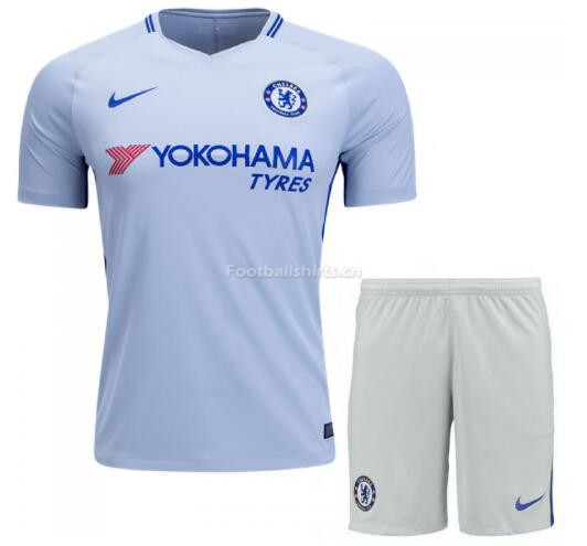 Chelsea Away Soccer Jersey Uniform (Shirt+Shorts) 2017/18