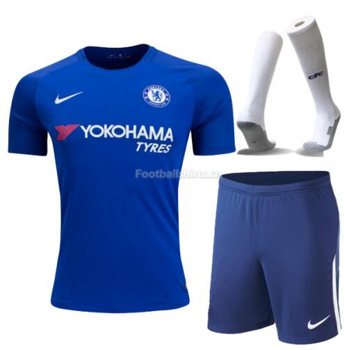Chelsea Home Soccer Jersey Kits (Shirt+Shorts+Socks) 2017/18