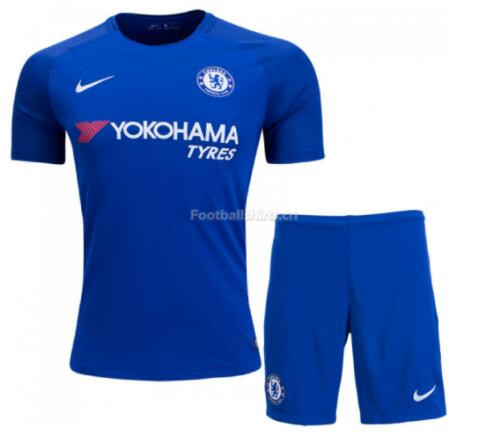 Chelsea Home Soccer Jersey Uniform (Shirt+Shorts) 2017/18