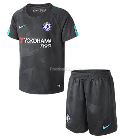Chelsea Third Soccer Jersey Uniform (Shirt+Shorts) 2017/18