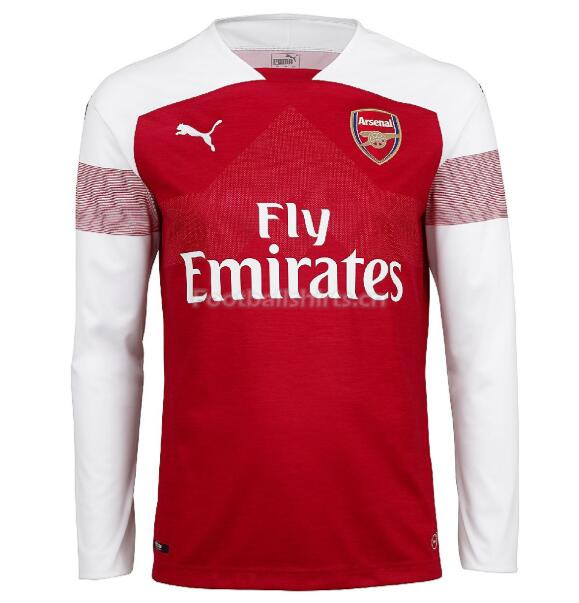 Arsenal Home Long Sleeve Soccer Jersey 2018/19