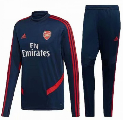 Arsenal Training Top Suits Navy Red 2019/20