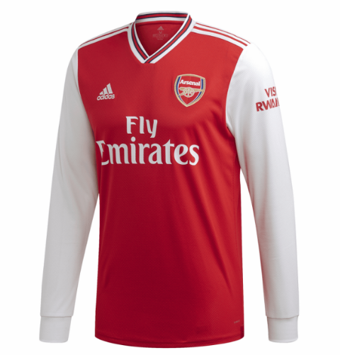 Arsenal Home Soccer Jersey Long Sleeve 2019/20