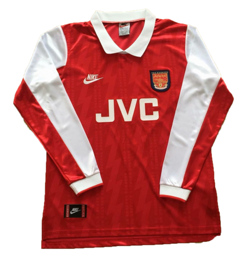 Retro Arsenal Home Long Sleeve Soccer Jersey 1994
