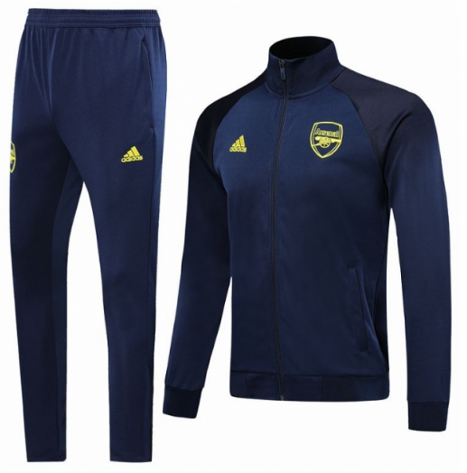 Arsenal Training Jacket Suits Navy Yellow 2019/20