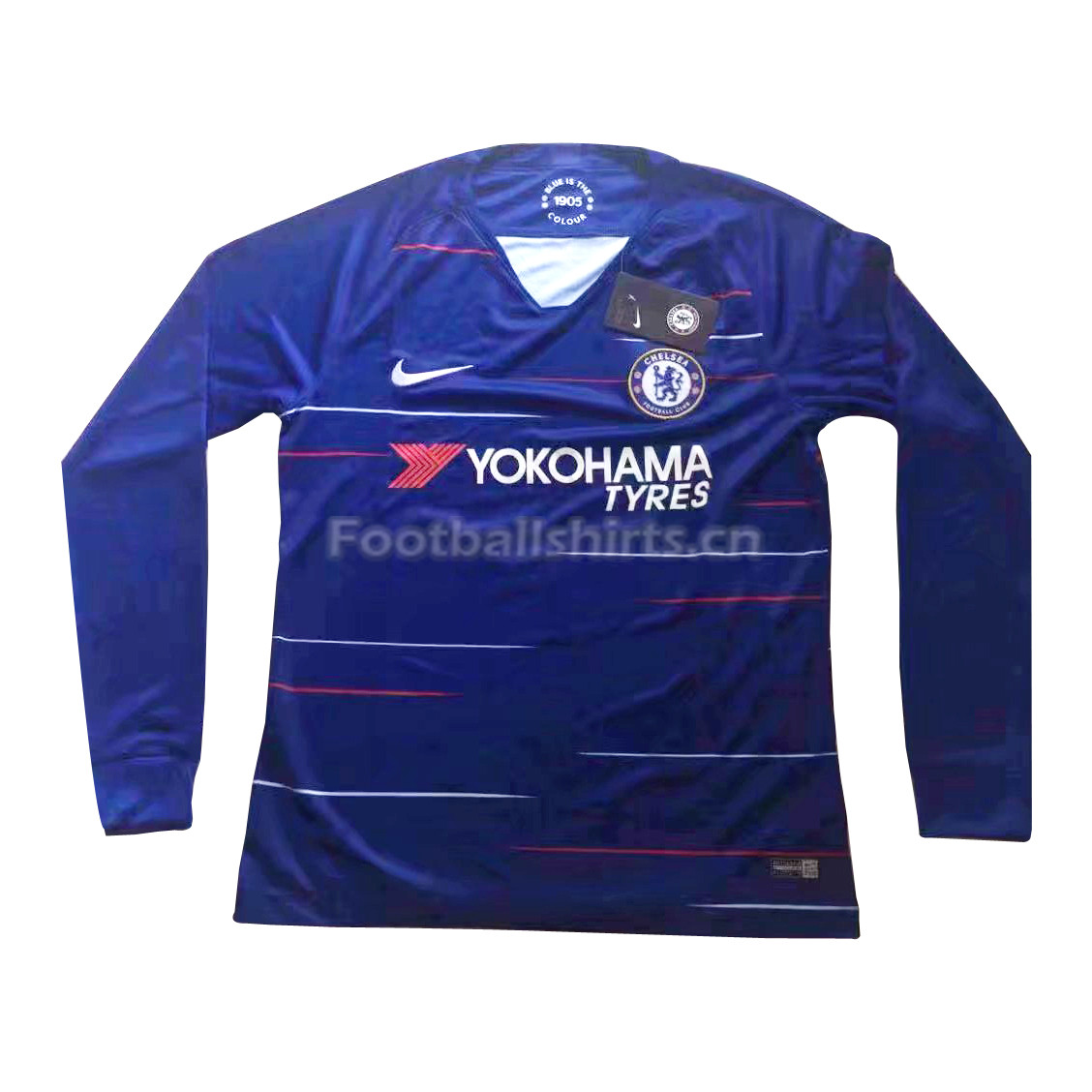 Chelsea Home Long Sleeve Soccer Jersey 2018/19