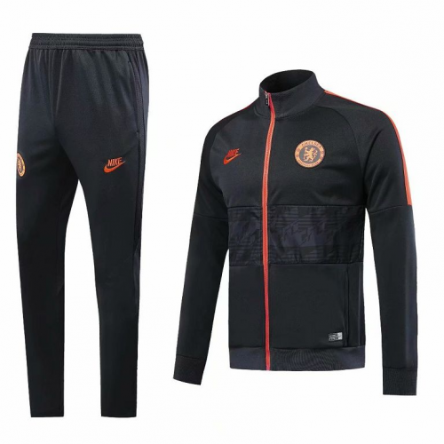 Chelsea Training Jacket Suits Black 2019/20
