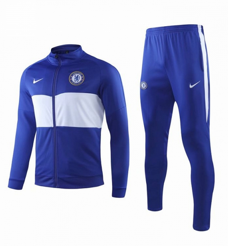 Chelsea Training Jacket Suits Blue White 2019/20