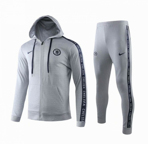 Chelsea Training Hoodie Jacket Suits Grey 2019/20