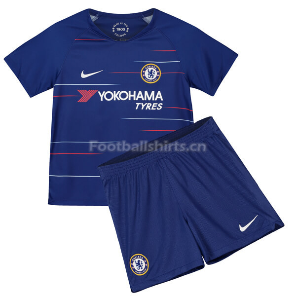 Kids Chelsea Home Soccer Jersey Kit Shirt + Shorts 2018/19
