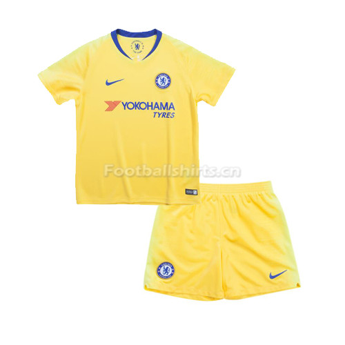 Kids Chelsea Away Soccer Jersey Kit Shirt + Shorts 2018/19