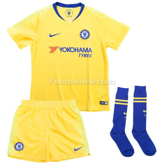 Kids Chelsea Away Soccer Jersey Whole Kit Shirt + Shorts + Socks