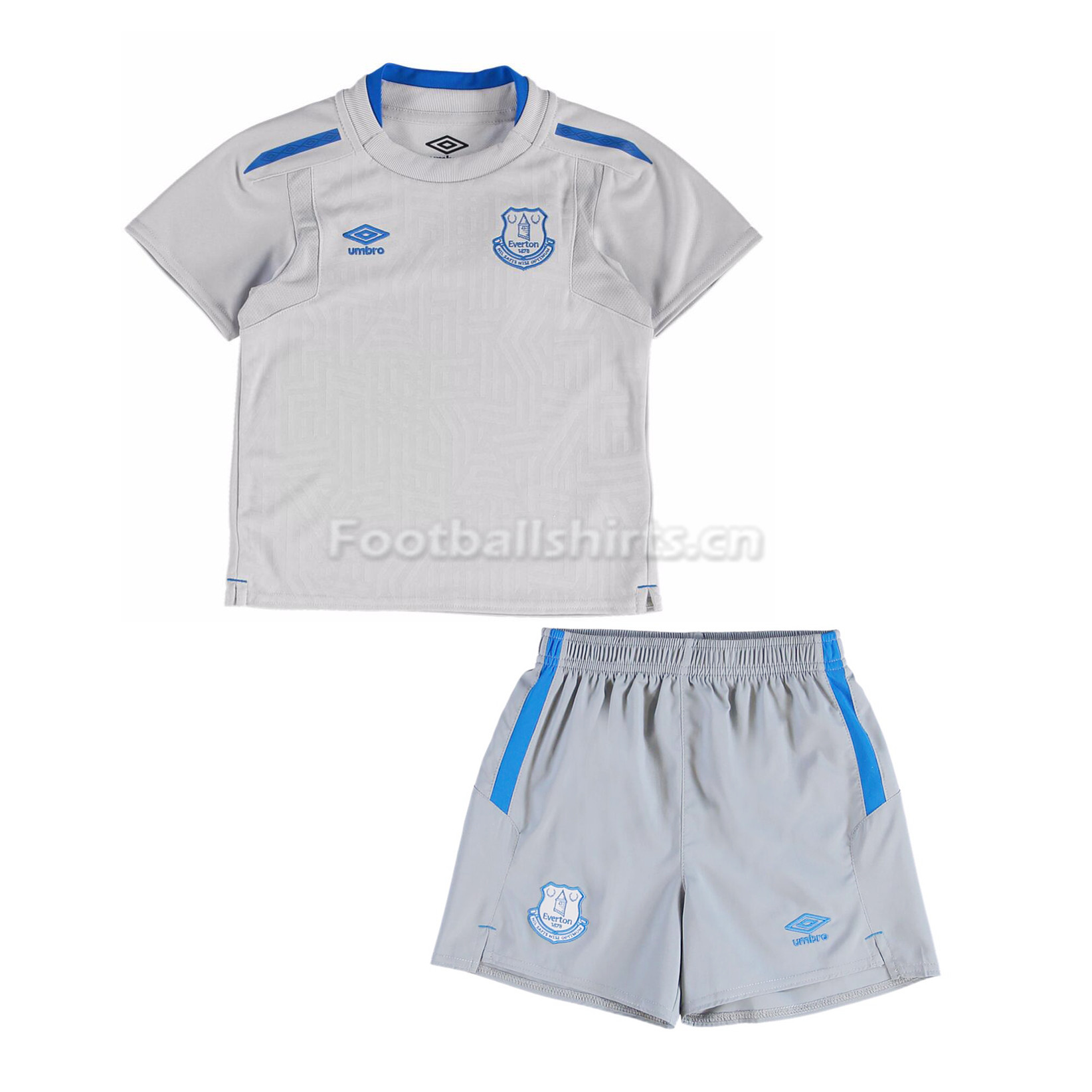 Kids Everton Away Soccer Kit Shirt + Shorts 2017/18
