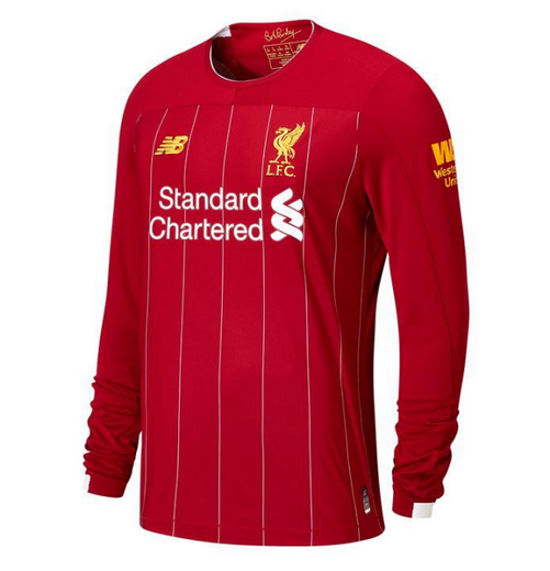 Liverpool Home Soccer Jersey Long Sleeve 2019/20