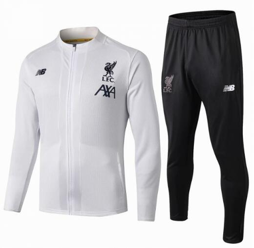 Liverpool Training Jacket Suits White AXA 2019/20