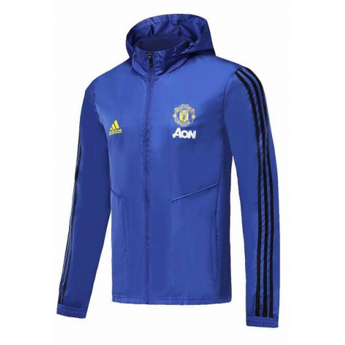 Manchester United Windbreaker Jacket Blue 2019/20