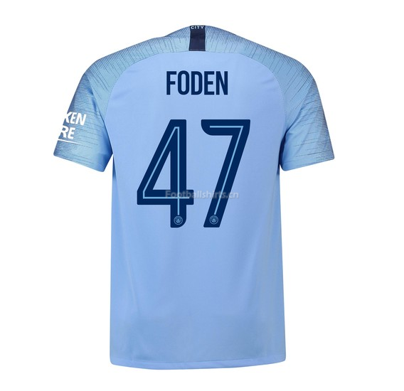 4e851d9bf Manchester City Foden 47 UCL Home Soccer Jersey 2018 19  SOCCER5275 ...