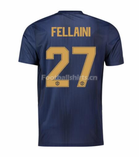 Manchester United Fellaini 27 UCL Third Soccer Jersey 2018/19