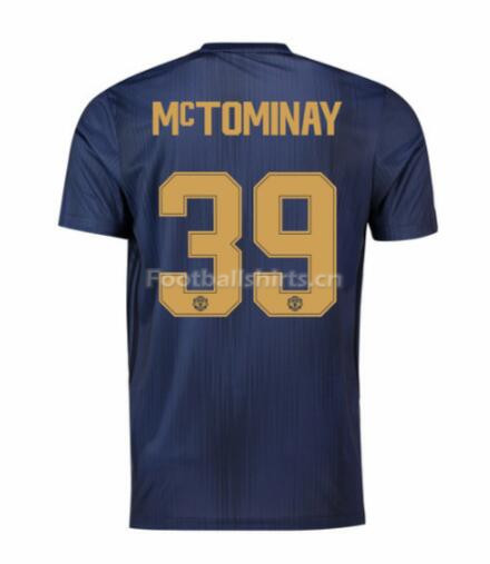 Manchester United McTominay 39 UCL Third Soccer Jersey 2018/19