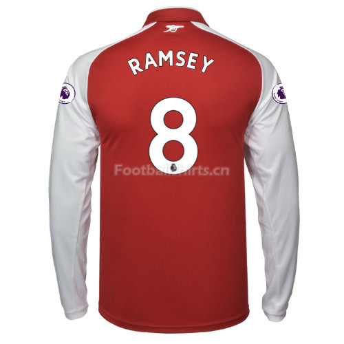 Arsenal Home RAMSEY #8 Long Sleeve Soccer Jersey 2017/18