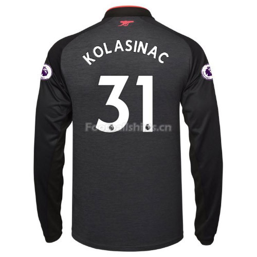 Arsenal Third KOLASINAC #31 Long Sleeve Soccer Jersey 2017/18